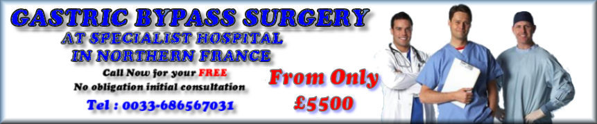 price of gastric bypass surgery in France cost less than it does in the UK