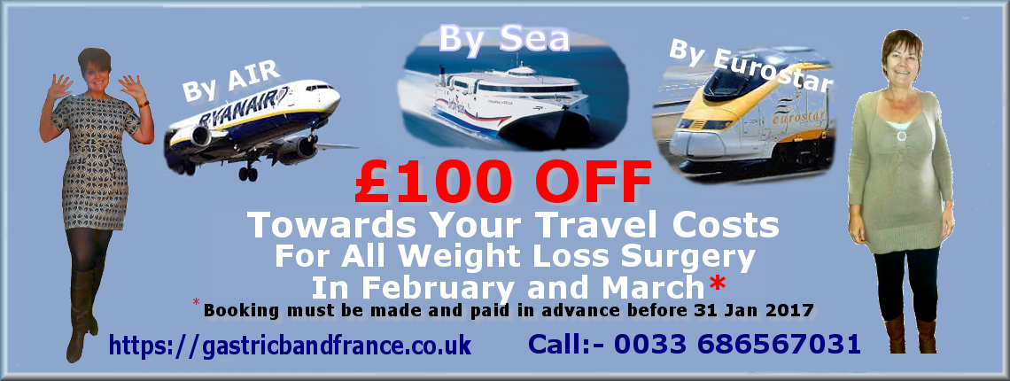 £100 Off Weight Loss Surgery in France